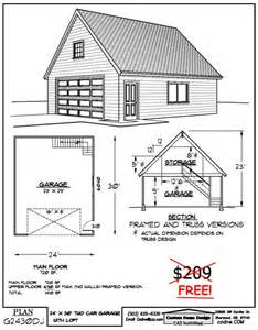 Plans For A 25 By 25 Foot Two Story Garage by 24 X 30 Two Story Garage Garage Plans Pinterest