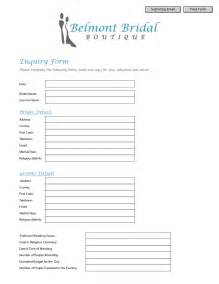 Enquiry Form Template Word enquiry form template word 28 images 35 best php