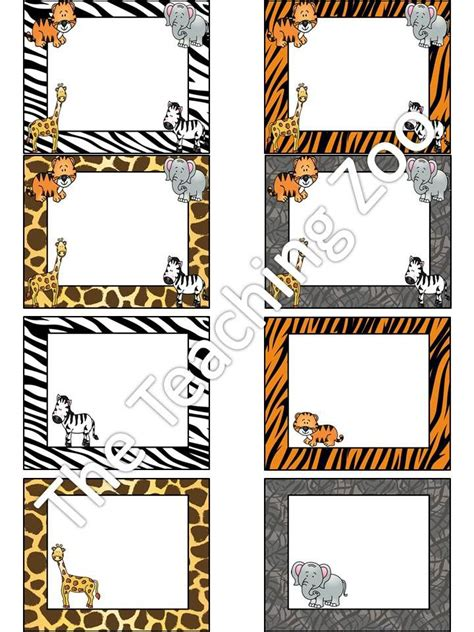 printable zoo animal name tags editable zoo animals name tags labels jungle safari