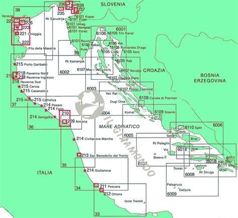 porti adriatico 237 iimi litorale di trieste carta