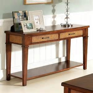 Entry Table With Storage by Mesa Sofa Entry Table Medium Brown Walnut End Tables