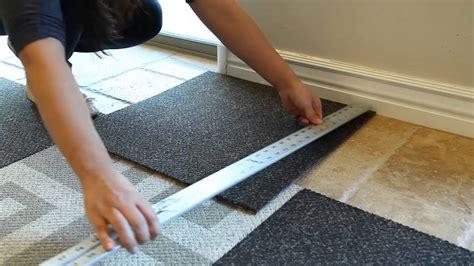 install carpet tile flooring youtube