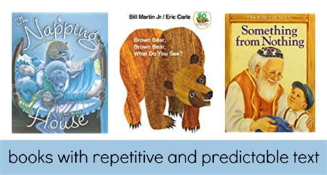 predictable picture books books with repetitive predictable text pre k pages