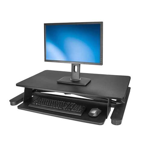 Sit Stand Desk Converter Startech Com Australia Sit Stand Desk Converter