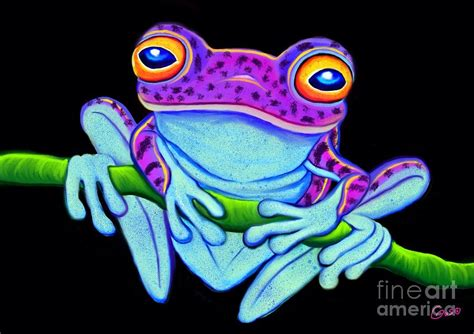 Colorful Home Decor by Spotted Purple Frog Painting By Nick Gustafson