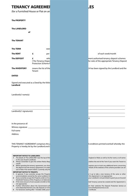uk tenancy agreement template tenancy agreement furnished form template sle