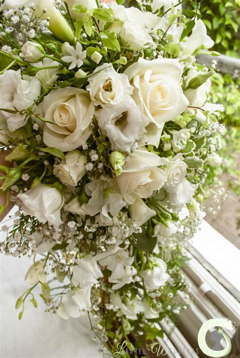 blush pink and cream wedding flowers at the mere resort