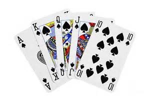 cards royal flush on white background photograph by natalie kinnear