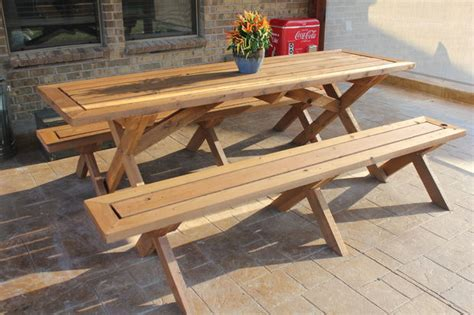 picnic tables with detached benches sleek picnic table with detached benches