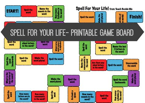 free printable board games to make 9 best images of life board game printable template