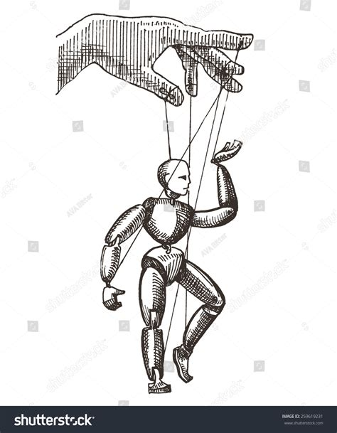 marionette layout view without template puppet vector logo design template management or theatre