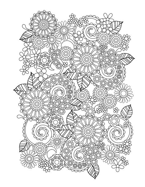 coloring pages for adults free flower coloring pages for adults best coloring pages for