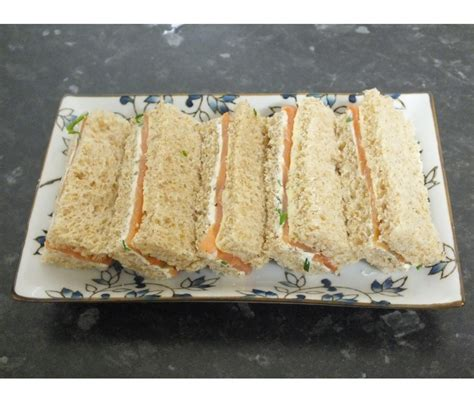 Ina Garten Show by English Afternoon Tea Sandwiches Smoked Salmon And Chive