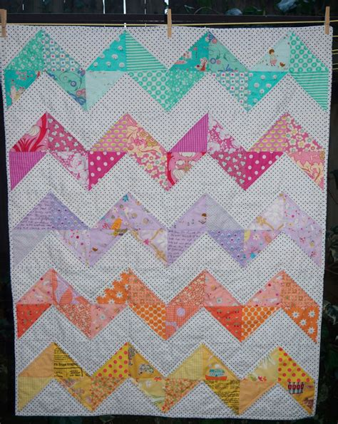 Chevron Baby Quilt Pattern by Creations Chevron Baby Quilt