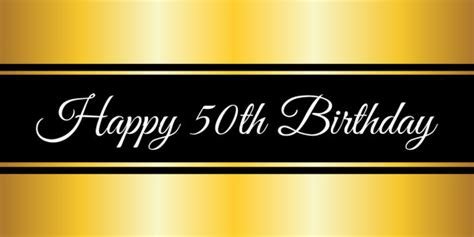50th birthday banner template happy 50th birthday gold banner