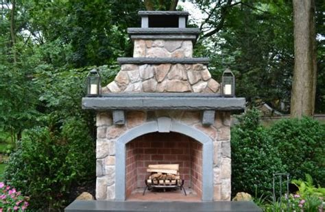 Outdoor Fireplace Construction Details by Outdoor Living Designs