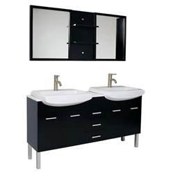 59 inch espresso modern sink bathroom vanity with