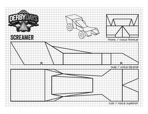21 Cool Pinewood Derby Templates Free Sle Exle Format Download Free Premium Templates Derby Car Templates