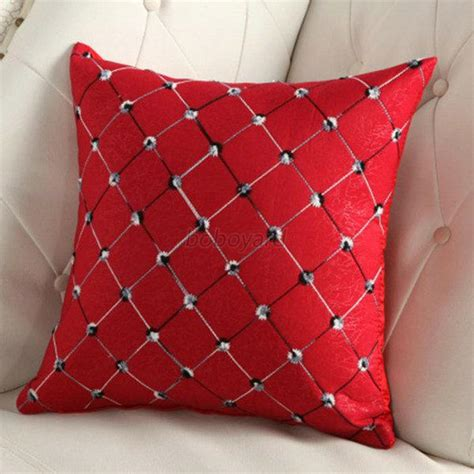 bed decor pillows home sofa bed decor multicolored plaids throw pillow case