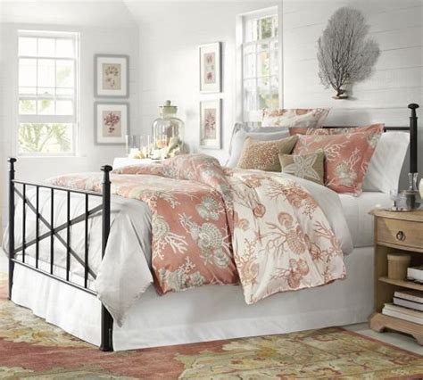 braxton iron bed pottery barn coastal pinterest