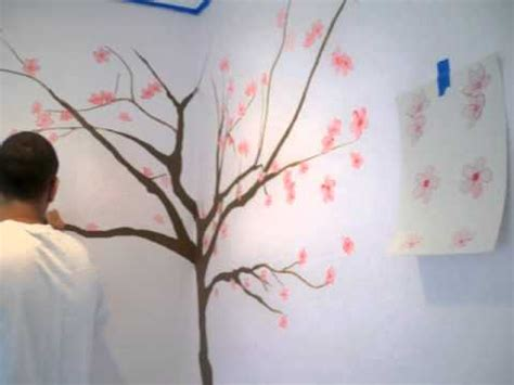 sakura flower mural wall painting youtube japanese cherry blossoms by sole junkie youtube