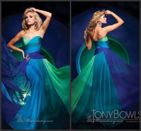 chagne color prom dress blue green wedding dress