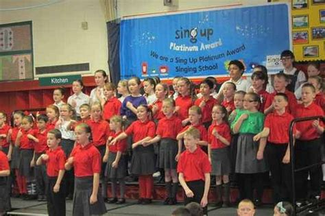 new year song primary kirkby primary school wins singing award liverpool echo