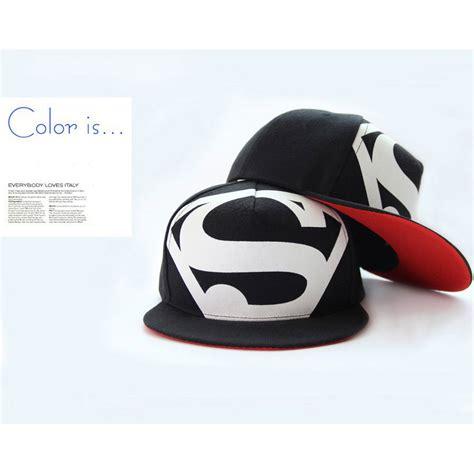 Topi Snapback1 topi superman hip hop snapback caps hats unisex black