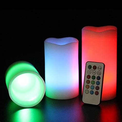 Large Flameless Candles With Remote by Luma Candles Real Wax Flameless Candles With Remote