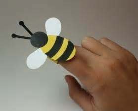 Bee Finger Puppet Template by Bee Finger Puppet Bee Opportunity