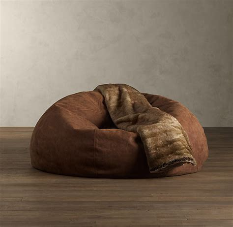 restoration hardware leather bean bag chair grand leather bean bag the awesomer