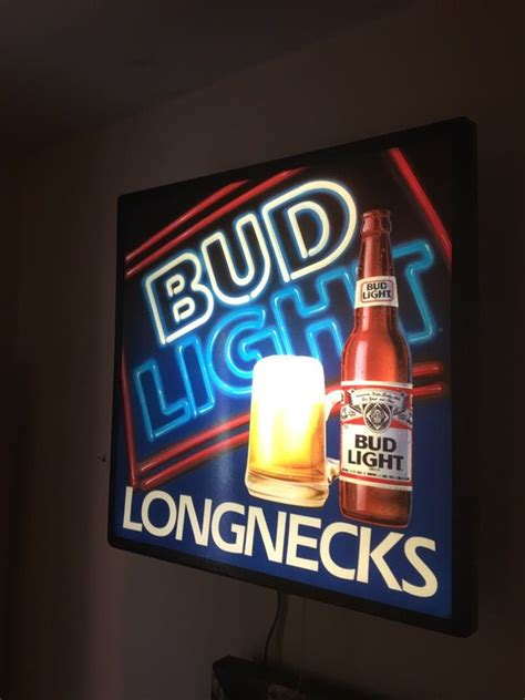 budweiser light up sign bud light longnecks vintage light up sign