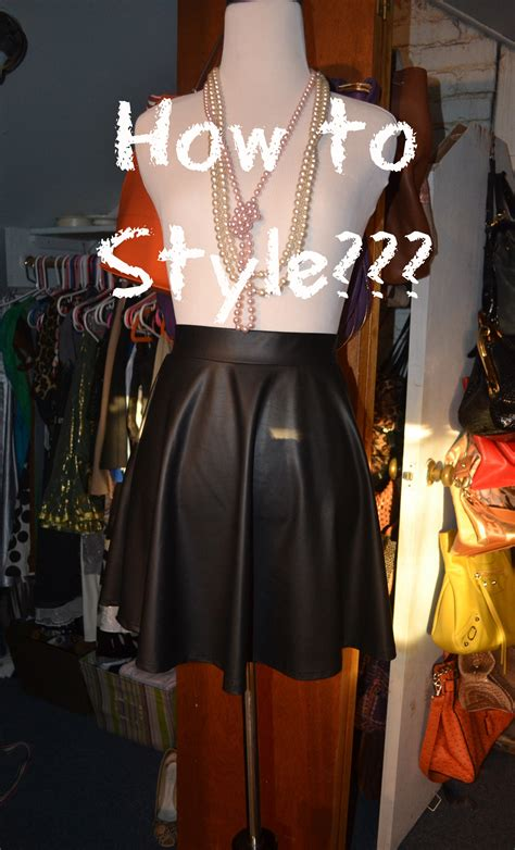 3 ways to style a leather skirt for looking fly