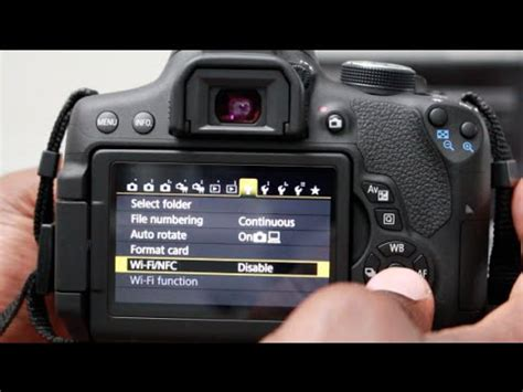 how to connect canon wifi camera to smartphone t6i and