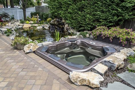 above ground hot tub why are the popular backyard design ideas