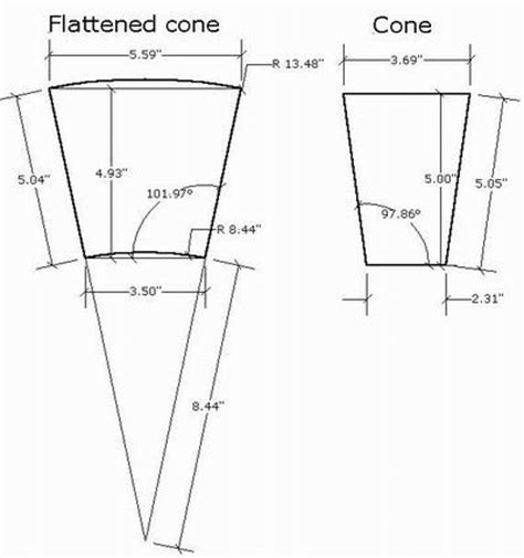 sheet metal cone development patterns patterns kid