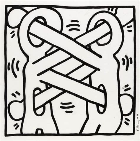 free keith haring coloring pages