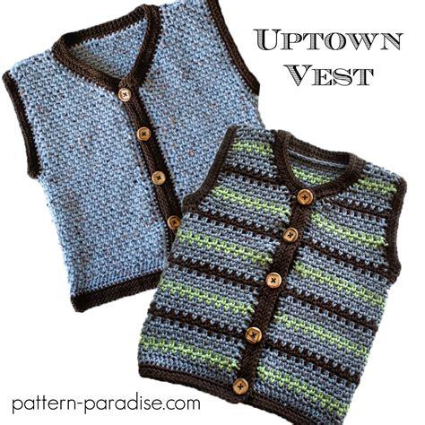 printable baby vest pattern crochet pattern uptown sweater vest pattern paradise