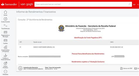 demonstrativo imposto de renda banco santander 2016 santander financiamento extrato imposto de renda santander