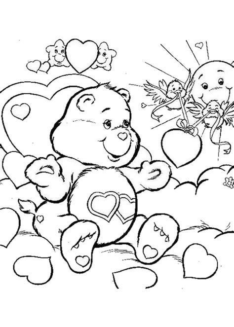 love bear coloring pages love a lot bear coloring pages hellokids com