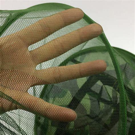 Topi Mancing Jaring Anti Nyamuk Lebah Berkualitas topi mancing jaring anti nyamuk lebah green