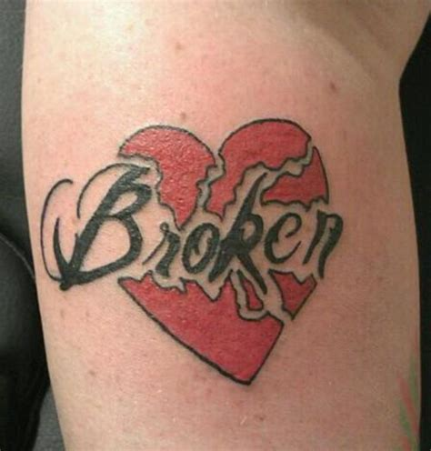 small broken heart tattoos sad broken pictures to pin on tattooskid