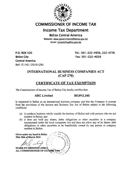 certificate of incumbency template belize offshore zones offshore and international gsl