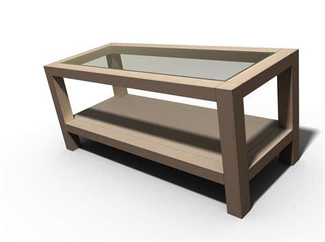 plan table basse bois