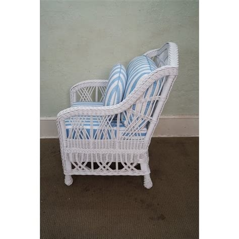 white wicker chair and ottoman style white wicker lounge chair with ottoman