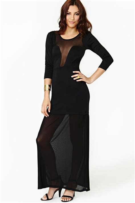 Black Dress Fever by Dropship Dear Lover Fever Mesh Maxi Dress In Black From China