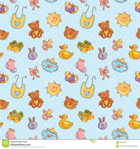 pattern drawing toy baby toys cute cartoon set seamless pattern royalty free