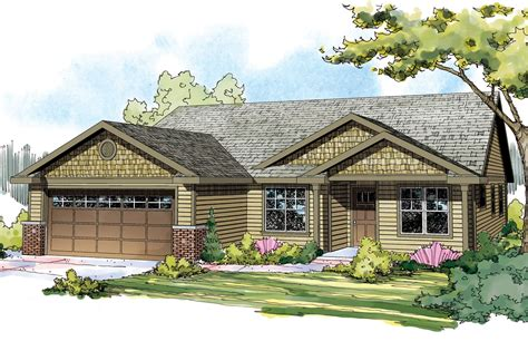 Craftsman Houses Plans by Craftsman House Plans Pineville 30 937 Associated Designs