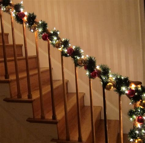 christmas lights for stair banisters christmas decorations for banisters neaucomic com