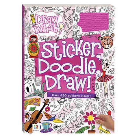 sticker doodle i you sticker doodle draw pink book kmart